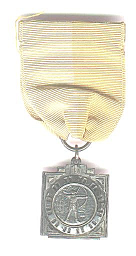 RIBBON AND ARCHERY MEDAL, STERLING (Image1)
