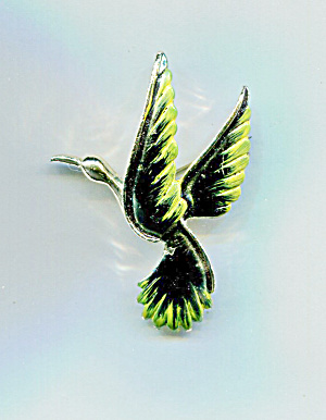 GERRY'S GREEN BIRD PIN (Image1)
