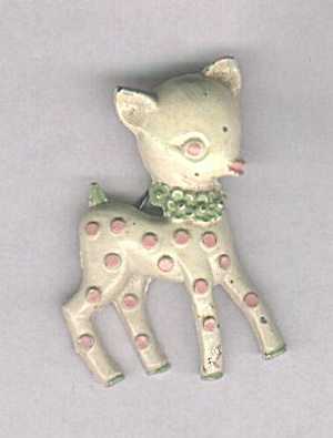 ENAMELED DEER PIN (Image1)