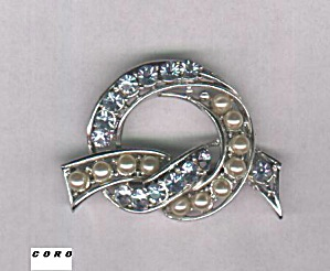 CORO BLUE STONES AND PEARLS PIN (Image1)