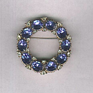 BARCLAY BLUE STONE CIRCLE PIN (Image1)
