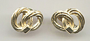Monet Double Circle Rope Clip-back Earrings