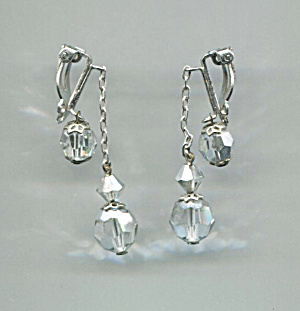 Lewis Segal Drop Crystal Earrings