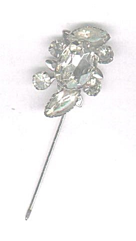 Clear Rhinestone Stick Pin