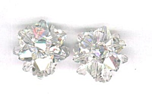 CLEAR AURORA BOREALIS CRYSTAL EARRINGS (Image1)