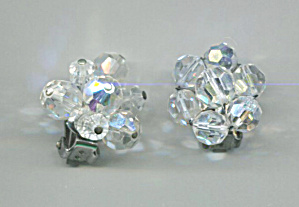 Clear Crystal Clip-back Earrings