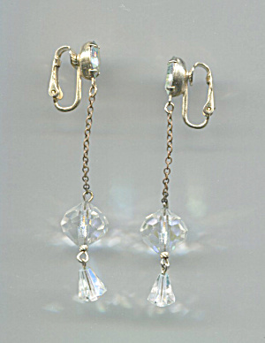Crystal Drop Clip-back Earrings