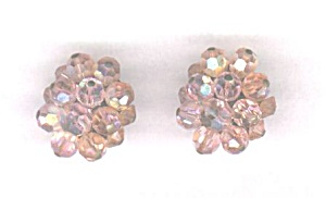 Pink Aurora Borealis Crystal Earrings