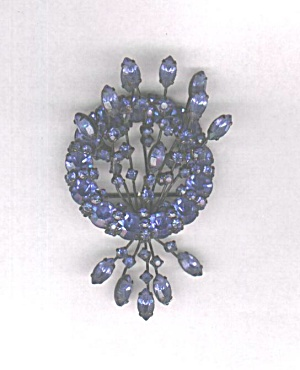 WARNER BLUE RHINESTONE CIRCLE W/ SPRAY PIN (Image1)