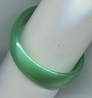 Bright Turquoise Blue Hard Plastic Bangle Bracelet