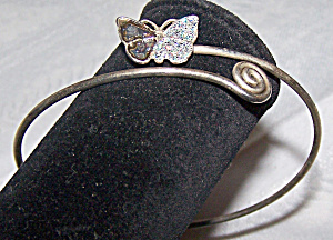 Butterfly Closure, Wire Bracelet