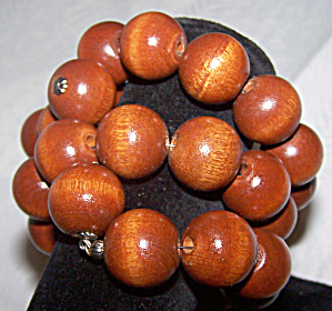 3 Strand Wood Expansion Bracelet