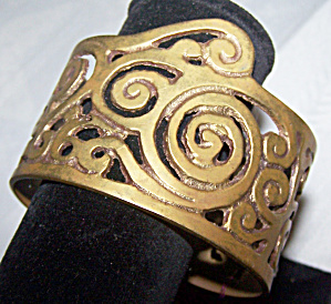 Open Work Metal Cuff Bracelet