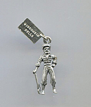 Sterling Charm Of Lumber Jack W/ax By Bell