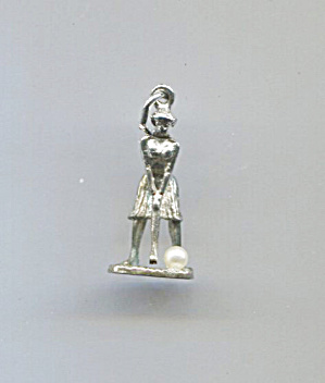Sterling Charm Of Lady Golfer By Bell