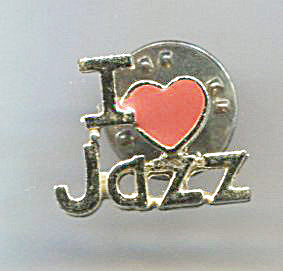 Ballou Reg'd. I Love Jazz Lapel Pin