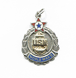 Wwii Usn Sterling Silver Pendant