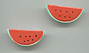 PAIR OF PLASTIC WATERMELON SCATTER PINS (Image1)