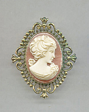 Avon Cameo Locket Pin