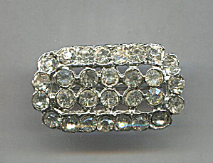 Rectangular Clear Rhinestone Pin
