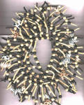 Click to view larger image of WOODEN NECKLACE W/ 16 ZEBRAS (Image1)