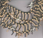 Click to view larger image of WOODEN NECKLACE W/ 16 ZEBRAS (Image2)
