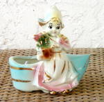 Click here to enlarge image and see more about item 2087: DUTCH GIRL PLANTER, AMERICAN BISQUE