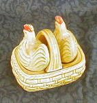 Click to view larger image of CHICKENS IN BASKET SALT & PEPPER SHAKERS (Image2)