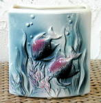 Click to view larger image of SWIMMING FISH PLANTER (Image1)