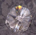 Click to view larger image of FACETED GLASS CLAM SHELL W/PEARL (Image3)
