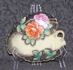 Click here to enlarge image and see more about item 6143: HAND PAINTED LEAF DISH
