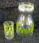 Click to view larger image of WHEAT JUICE DECANTER & 5 MATCHING GLASSES (Image2)