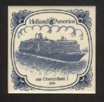 HOLLAND AMERICA LINE, 2003 BLUE ON WHITE TILE