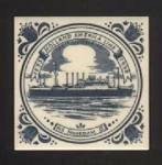HOLLAND AMERICA LINE, 1998 BLUE ON WHITE TILE