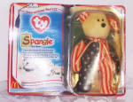 Click here to enlarge image and see more about item 6591p: TY SPANGLE THE BEAR, TEENIE BEANIE BABY