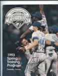 1993 TORONTO BLUE JAYS SPRING TRAINING PROGRAM, DUNEDIN