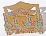 Click here to enlarge image and see more about item 6611f: JERUSALEM METAL LETTER HOLDER