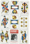 Click here to enlarge image and see more about item 6614a: HUNDE DECK OF CARDS
