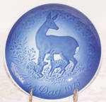 B & G COPENHAGEN 1975  MOTHER'S DAY PLATE W/ DEER