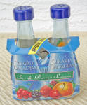 Click here to enlarge image and see more about item 6641e: CLEARLY CANADIAN SALT & PEPPER SHAKERS