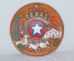 Texas Long Horn Souvenir Plate