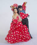 Pair of FLAMENCO DANCERS DOLLS