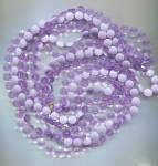 3 STRANDS PURPLE SHADES PLASTIC DISCS ROPE NECKLACE