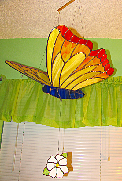 Large Hanging Butterfly (Image1)