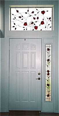Vining Rose Transom and Sidelight Windows (Image1)