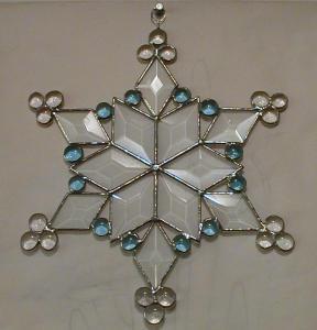 Beveled Glass Snowflake (Image1)