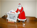 Click here to enlarge image and see more about item cardholder: Santa Christmas Card Holder
