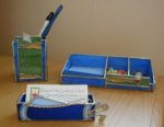 Click to view larger image of Golf Desk Set (Image1)