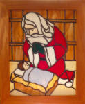 Click here to enlarge image and see more about item kneeling: Kneeling Santa