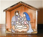 Click here to enlarge image and see more about item lighted-nativity: Small Lighted Nativity